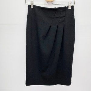 Magaschoni Collection Skirt 4 Side Pleat Black